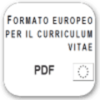Icona di Curriculum Vitae Europeo in PDF