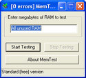 Screenshot 1 of MemTest 4.0