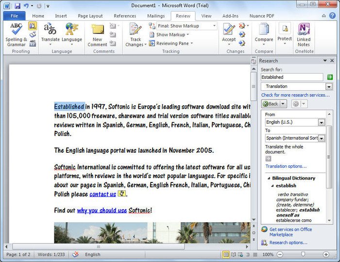 microsoft word 2007 download softonic
