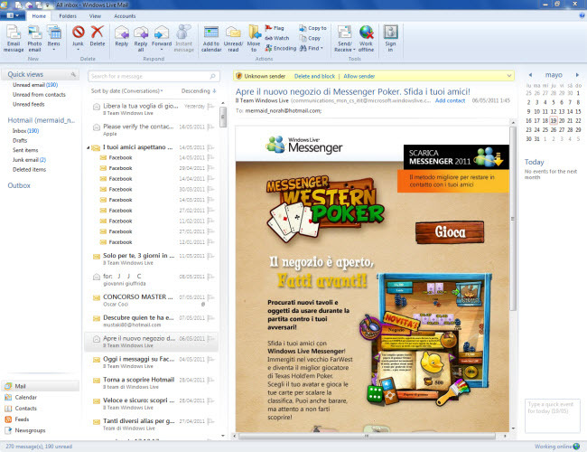 scarica outlook email gratis per windows 7