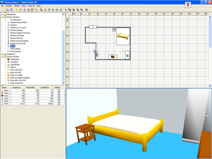 Sweet home 3d download gratis for Programma planimetria casa gratis