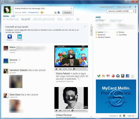 la nuova versione di msn 2011 gratis
