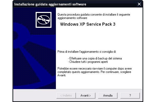 Come scaricare service pack 3 per windows xp